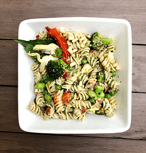 Pesto Pasta Salad (Gluten-Free and Vegan option!)
